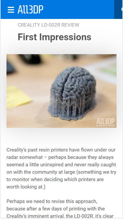 creality ld-002r 3d printer