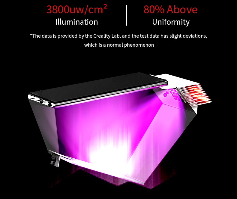 The self-developed integral light source, High precision